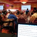Captioning for a large audience at an aging services conference