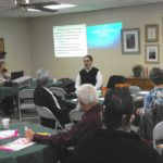 Larry Narvaez speaking at hearing loss meeting